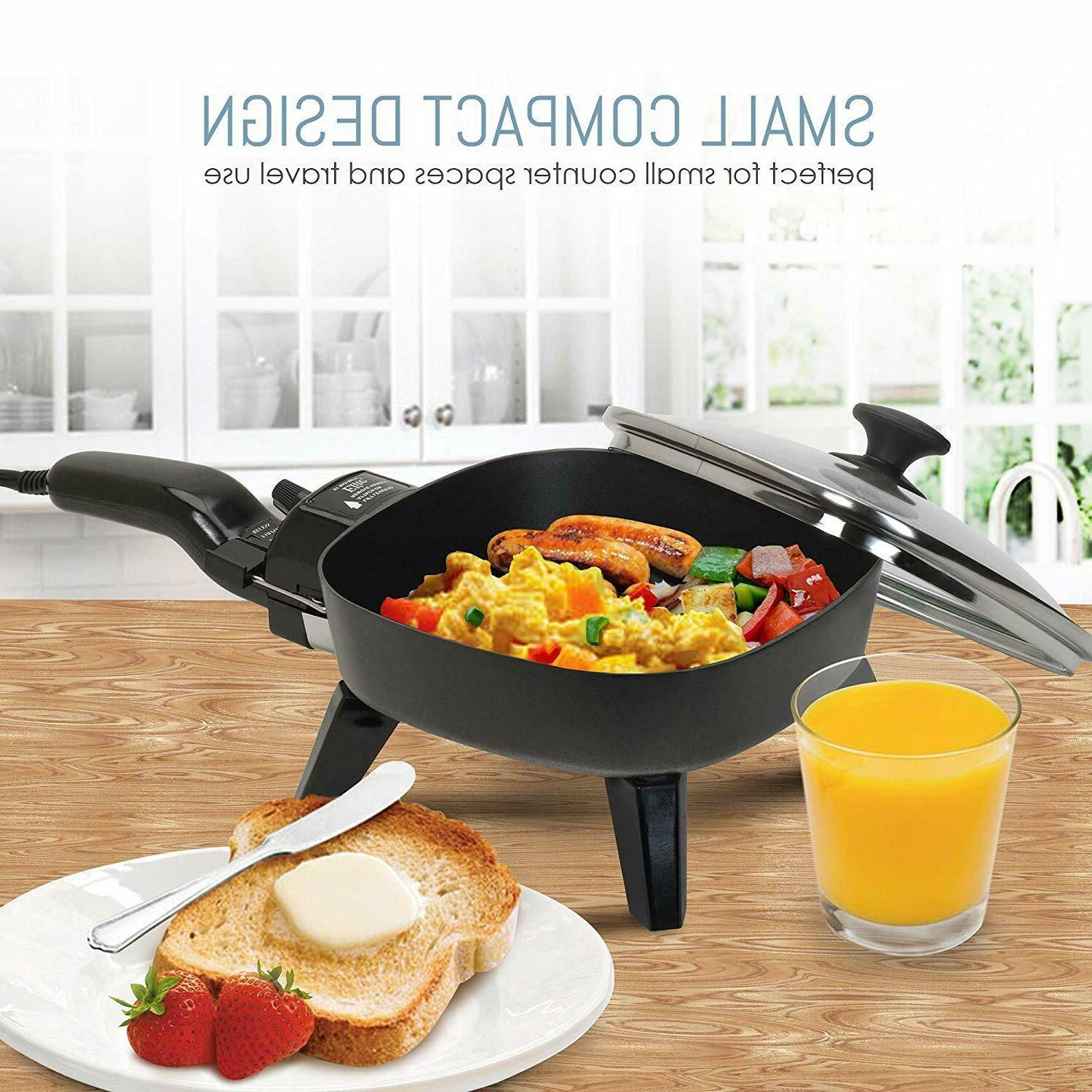 Electric With Glass Lid Fry Portable