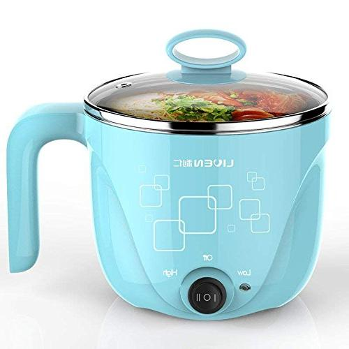 9140f704cf36 1L Liven Electric Hot Pot with 304 Stainless