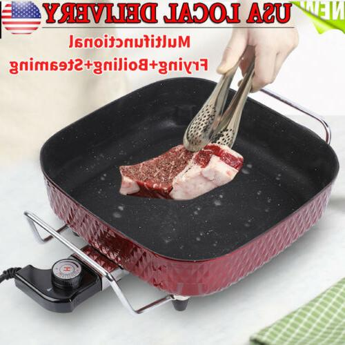electric skillet non stick electric frying pan