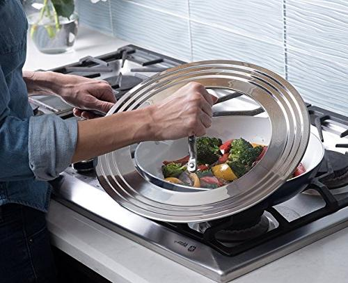 """Elegant Stainless Glass All 7"""" Pots and Replacement Frying Pan Cookware Innovations"""