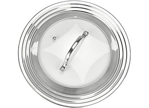 """Elegant Glass All 7"""" Pots Pans, Replacement Frying and Cookware Lids Innovations"""