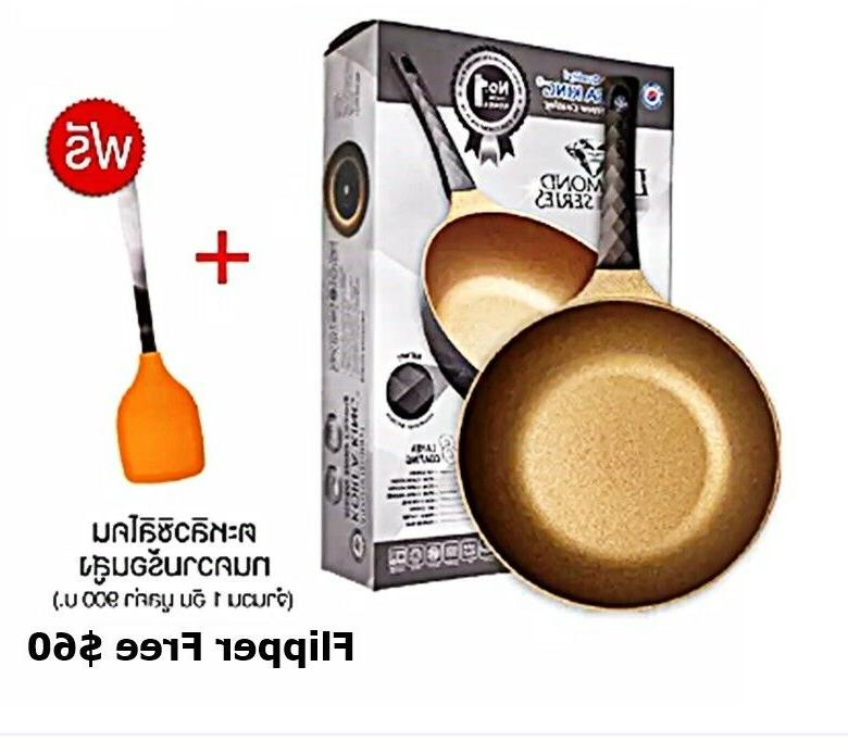 frying pan non stick cook ware marble