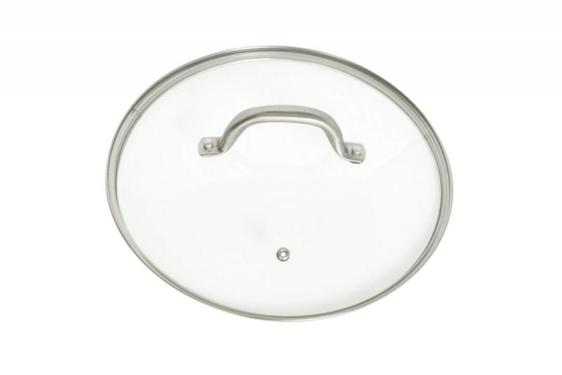 Glass 10.25 Cookware With Vent | Steel and Oven Safe and Dishwasher Safe | Steaming,