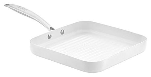 grill pan square copper ceramic