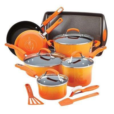 hard enamel nonstick cookware set