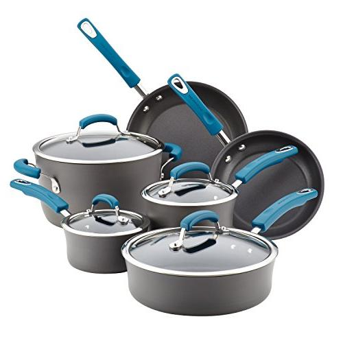 Rachael Ray Hard-Anodized Piece Cookware Blue