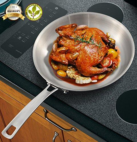 health triply stainless steel frying