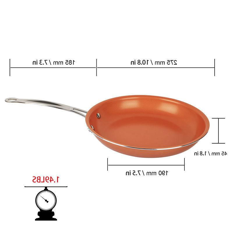 Healthy Stick Copper Frying Pan Bottom Kitchen