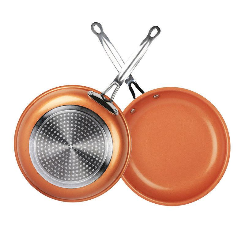 Healthy Non Stick Ceramic Copper Frying Pan Induction Bottom