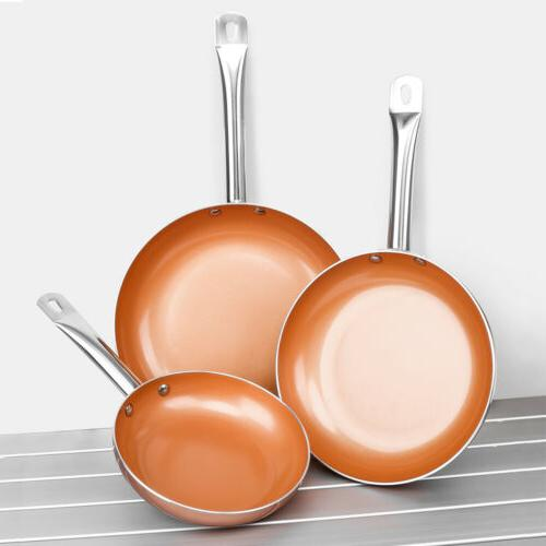 Healthy Ceramic 3 Induction Bottom Pan Set