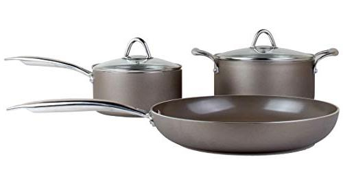 Cookware Set Ceramic Frying Pan, PTFE Free Nonstick Set, Induction and Safe Coating