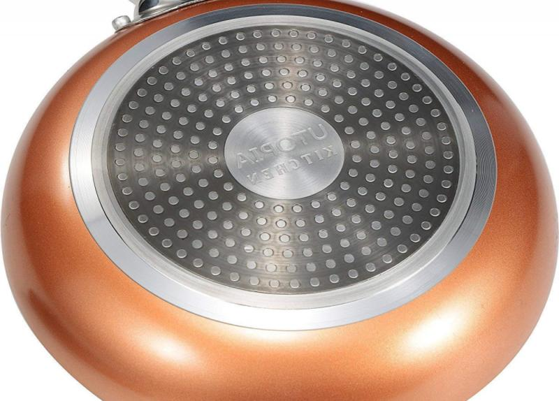 Utopia Induction Bottom 9.5 Inches Copper Frying Pan
