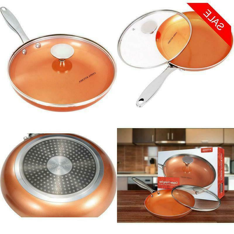 induction bottom copper nonstick frying