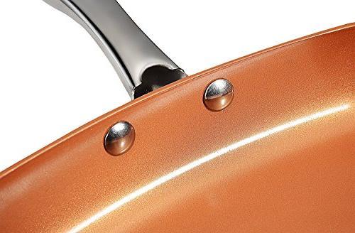 Copper Nonstick - 9.5 Inch Bottom - Lid Utopia Kitchen