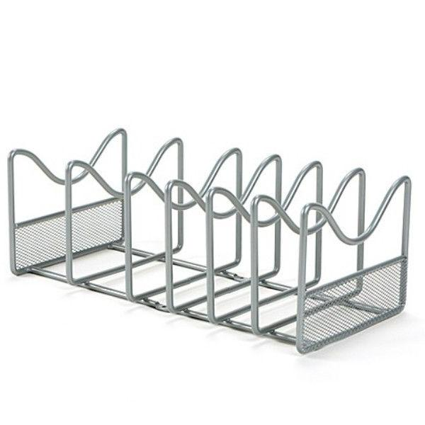 Kitchen Cabinet Wall Mounted Metal Pot Lid Organizer and Fry