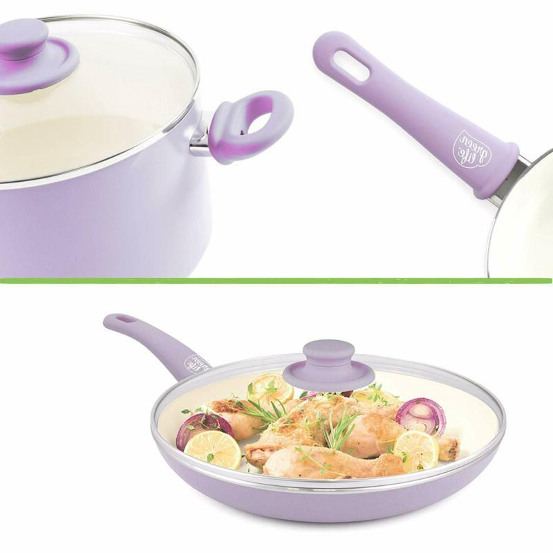 Kitchen Nonstick Ceramic Pan Stay Cool Open Frypan