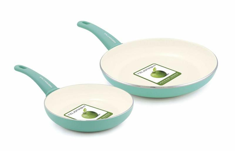 kitchen cookware green life nonstick ceramic pan