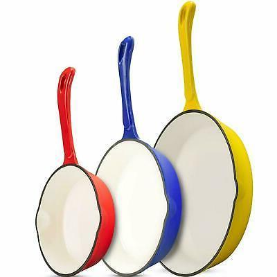 Klee Enameled Cast Iron Skillet – Nonstick Frying Pan Set
