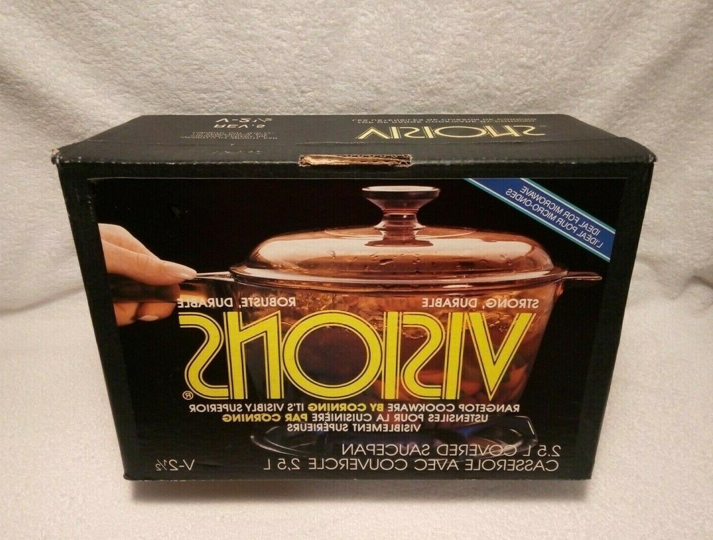 new visions corning ware amber 2 5l