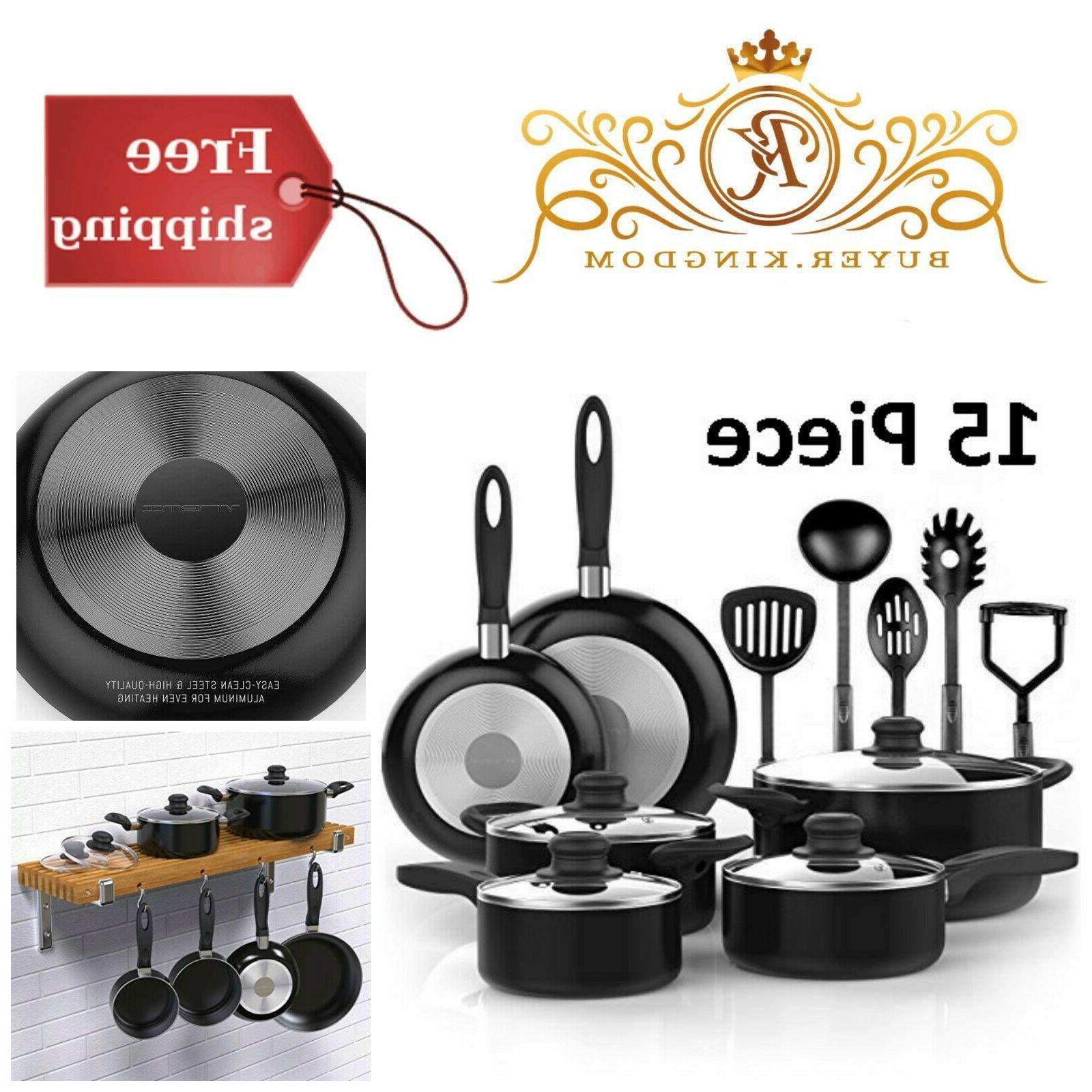 Nonstick Cookware Set With Saucepans Dutch Ovens Lids Fry Pa