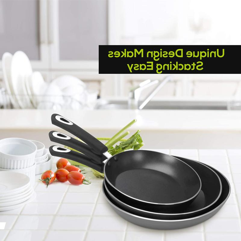Nonstick Frying Induction Double Piece