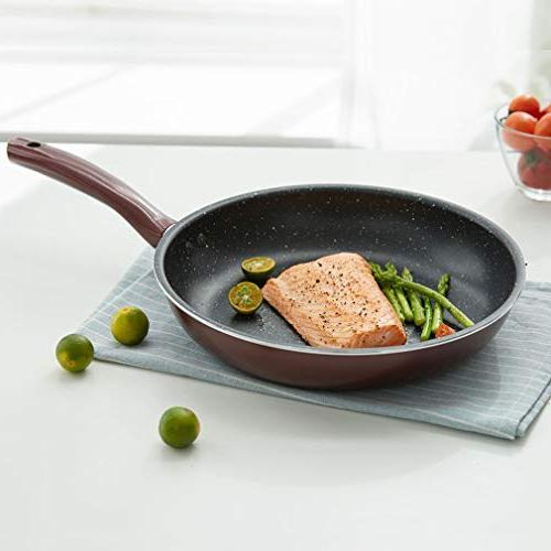 DESLON Omelet Pan Nonstick Quartz Maifan Stone Healthy Frying Pans 10.24 Inch
