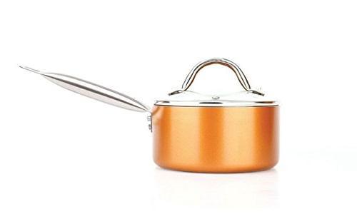 Copper H-02628 Luxury Cookware Non-Stick, 21.5 x 11