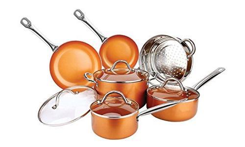 Copper Pan Luxury Non-Stick, 21.5 x 11 inches