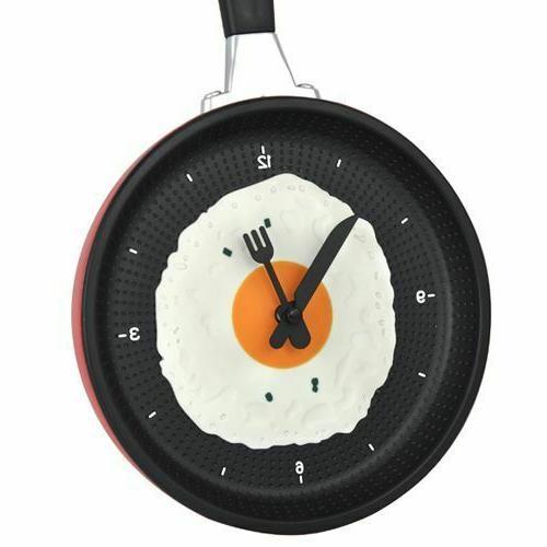 Plastic Modern Clock Frying Pan Watch Indoor