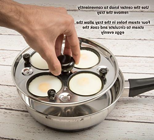 Eggssentials Poached Egg Maker Poaching Steel FDA Food Grade Safe With Bonus