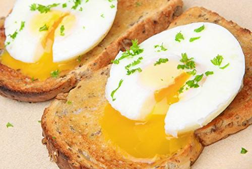 Eggssentials Poached Egg - Egg Poaching - Stainless Steel Egg Poacher Pan FDA Safe PFOA Bonus