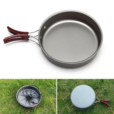 Non-stick Picnic Travel Outdoor Camping Cookware Cooking Por