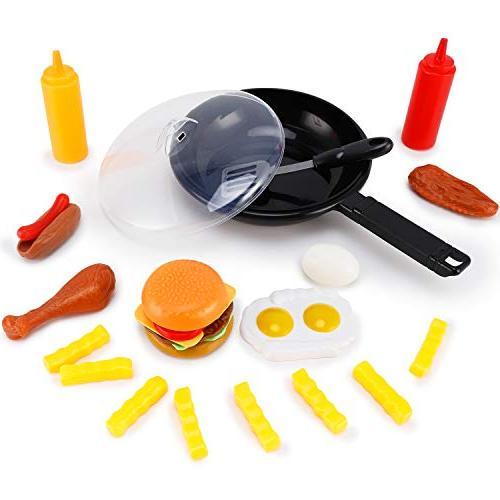 pots pans kitchen play food