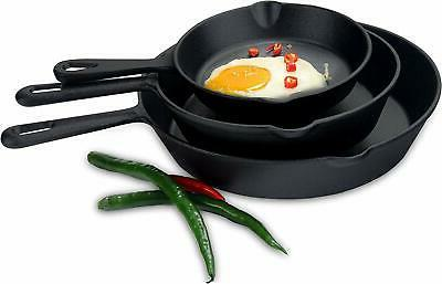 Utopia Kitchen Cast Iron 3-Piece - 6 Inch, Inch and 1