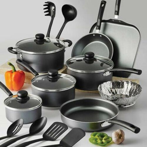 primaware nonstick cookware set steel