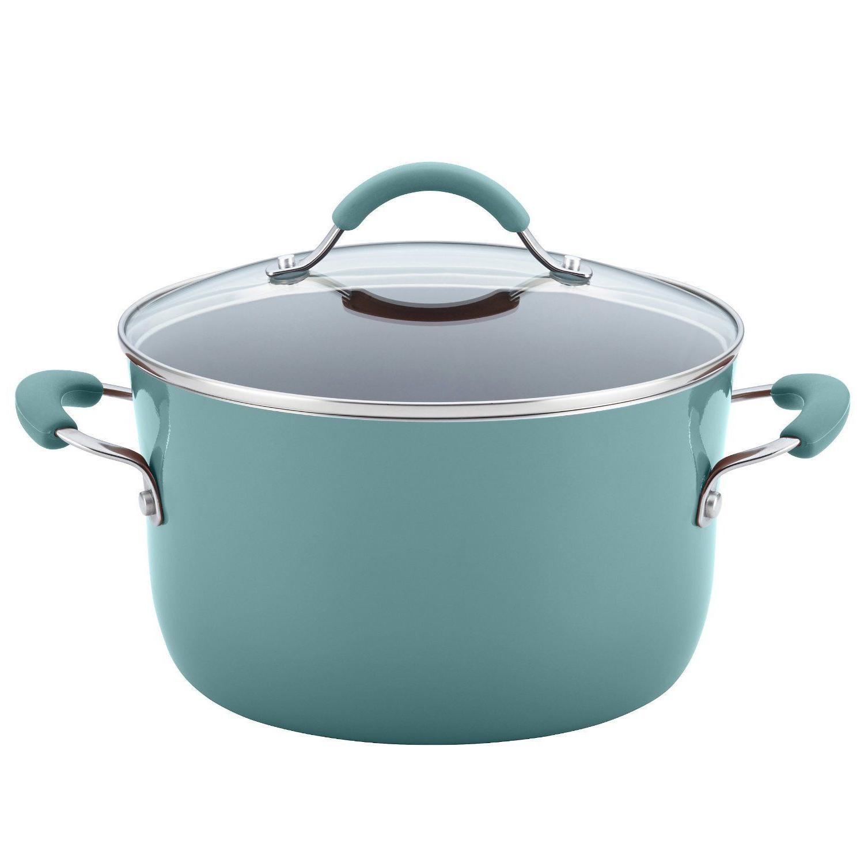 12pc Rachel Ray Set Nonstick Blue Pans Non Stick