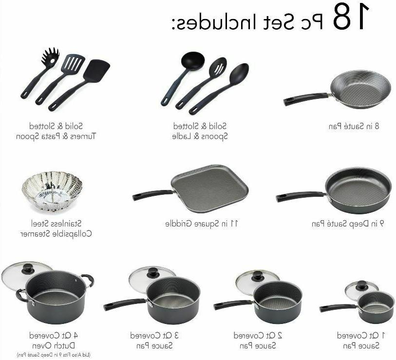 Set Pots Pans Non Cookware