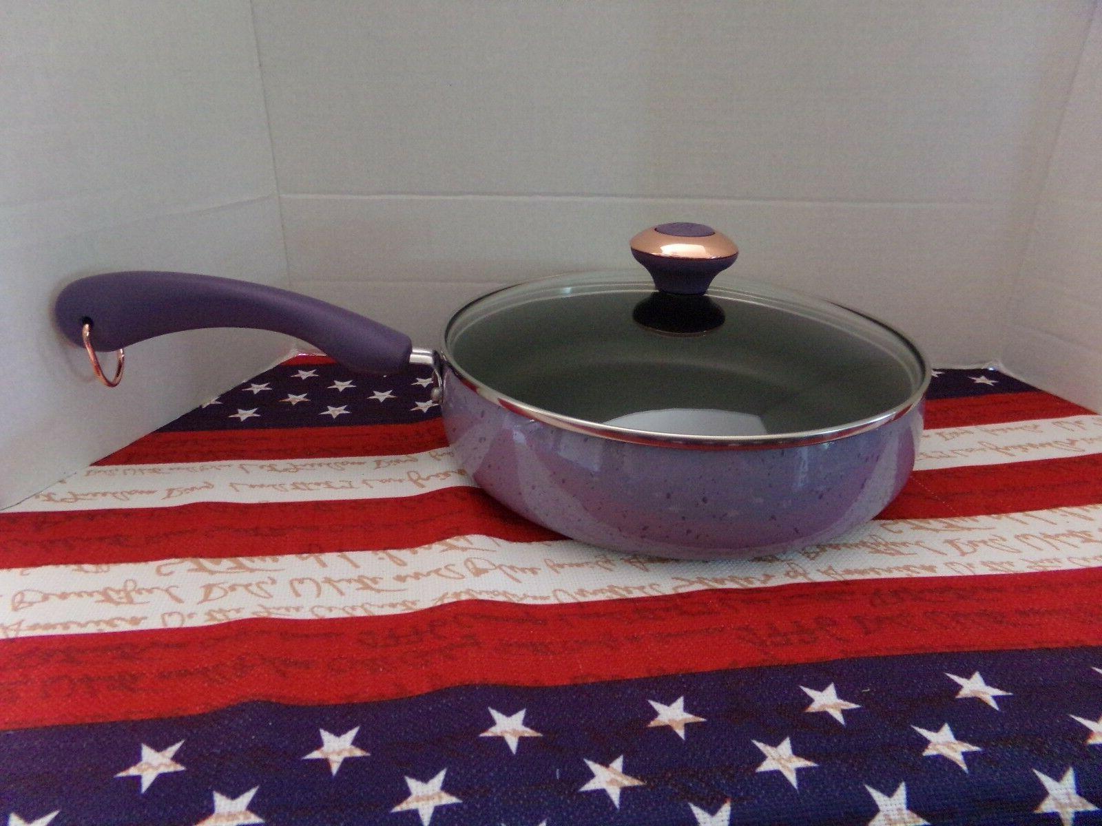 signature lavender speckle porcelain enamel