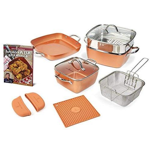 square casserole cookware set