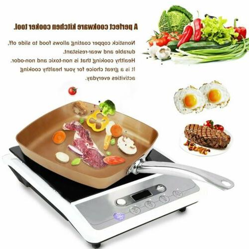 Square Frying Pan Safe Oven Cookware Kitchen Tool
