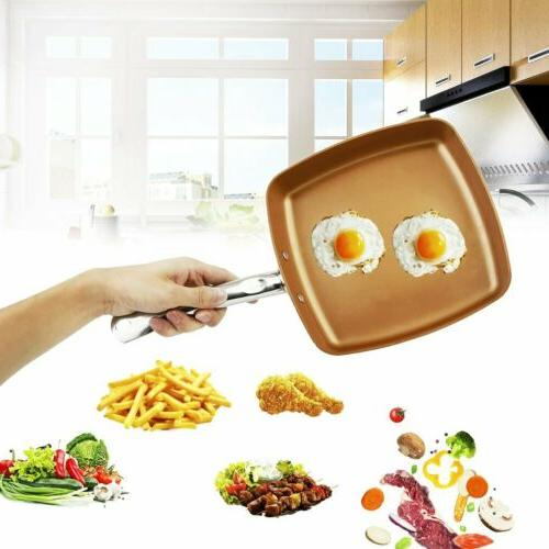 Square Copper Frying Safe Cookware Kitchen Tool
