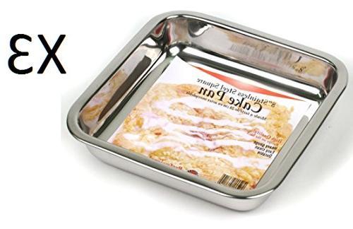 stainless steel cake pan
