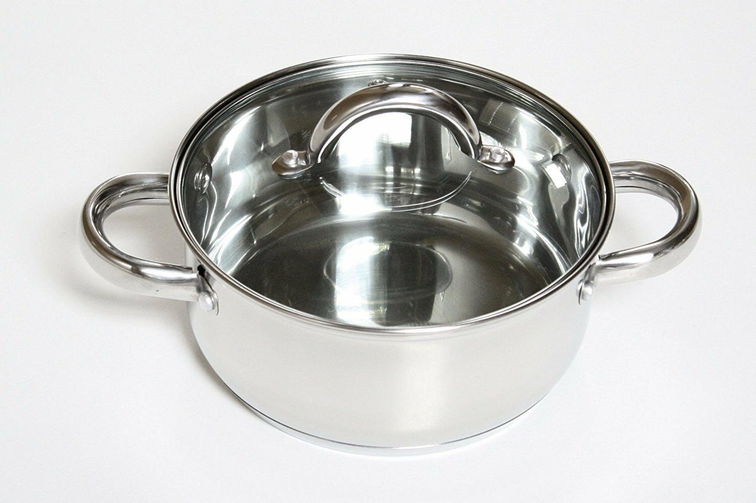 Stainless Cookware Set Pots Pans Frying 12 Pc NEW