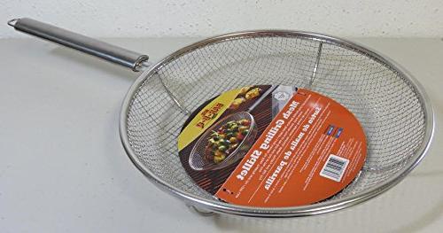 stainless steel mesh grilling skillet