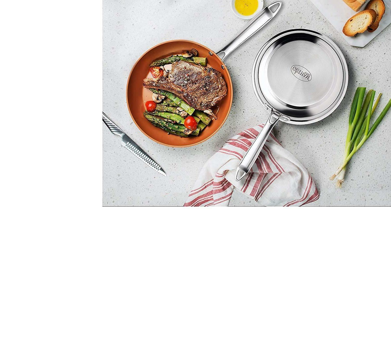 Gotham Stainless Premium Frying Pan – 4 SIZES! BRAND
