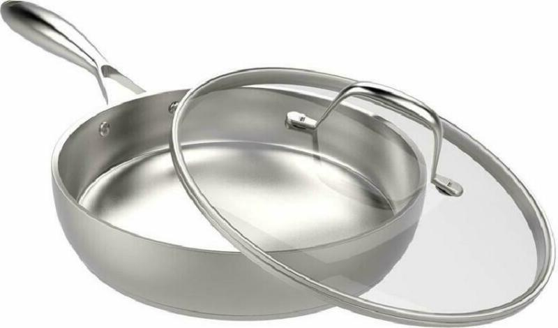 Stainless Skillet With Pan Cookware