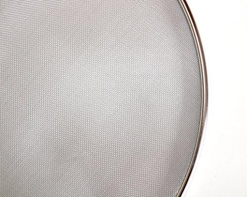 "Grease Splatter Screen For Frying Pan - Stainless Steel Guard Set 8"", 10"" 11"" inch - Super Mesh Iron Skillet Hot Oil Stop"