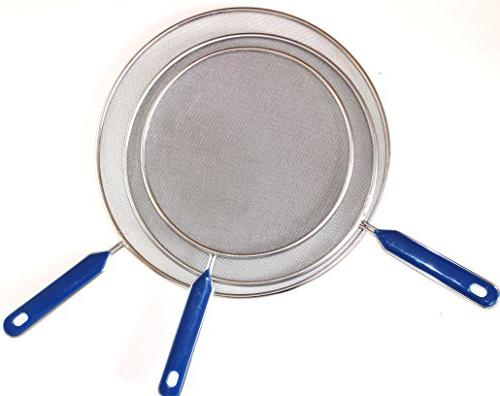 "Grease For Frying Stainless Steel Set of 8"", and 11"" inch Super Fine Mesh Iron Hot Stop Prime"
