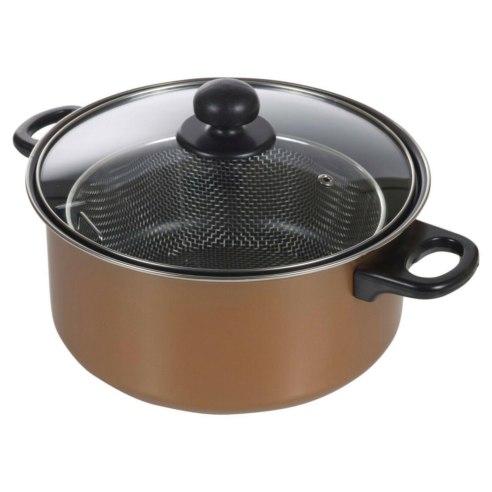 Pan Fryer Copper Clear Lid