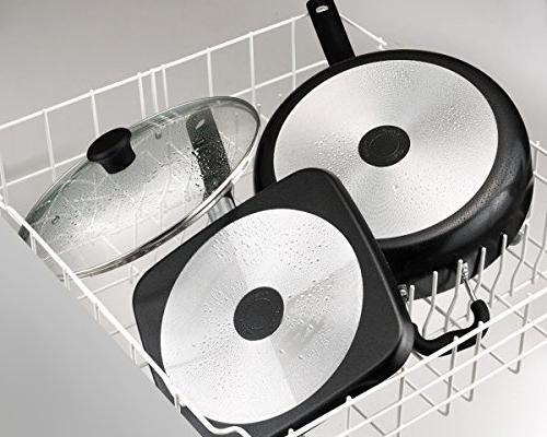 T-fal G9019264 Specialty Ceramic Dishwasher Oven Safe Everyday Pan 12 Black 12 Black